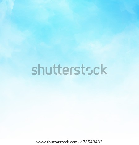 White cloud detail in blue sky vector illustration background with copy space Royalty-Free Stock Photo #678543433