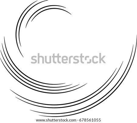 Lines in Circle Form . Spiral Vector Illustration .Technology round Logo . Design element . Abstract Geometric shape . Royalty-Free Stock Photo #678561055