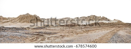 Construction site mound of sandy and soil. #678574600