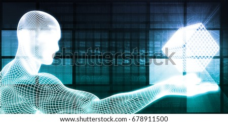 Science Research Concept as an Abstract Background 3D Illustration Render #678911500