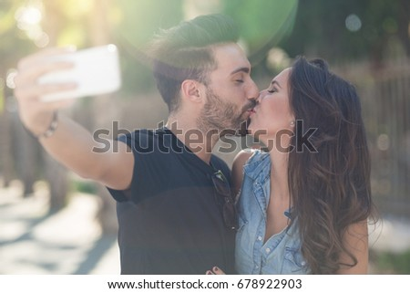 Sweet kiss in the sunlight #678922903