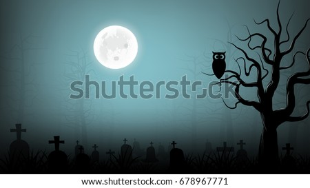 scary cemetery background #678967771