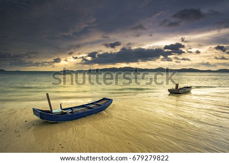 """""""Cô Tô"""" is an archipelago located east of Quang Ninh province with an area of 46.2 km². From Hanoi to Cai Rong port (Quang Ninh province) Royalty-Free Stock Photo #679279822"""