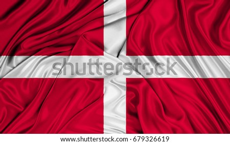 3D Flag of Sovereign Military Order of Malta silk texture #679326619