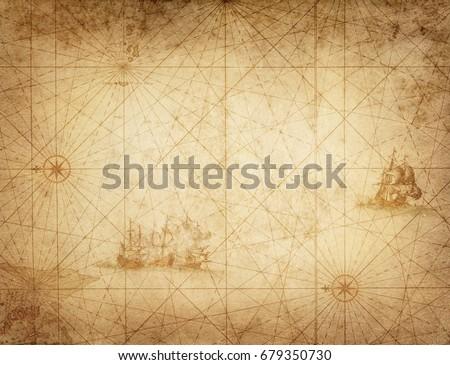 Pirate and nautical theme grunge background. #679350730