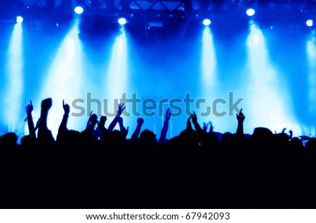 cheering crowd at concert #67942093