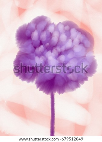 Watercolor, illustration, backgrounds, flower  #679512049