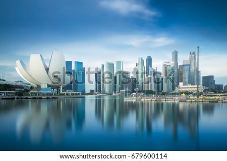 Singapore skyline Royalty-Free Stock Photo #679600114