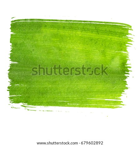 Vector ecology concept banner isolated on white background. Hand drawn shape, made with flat brush and green leaf texture, natural realistic green colors. Art and nature banner for ecology concept