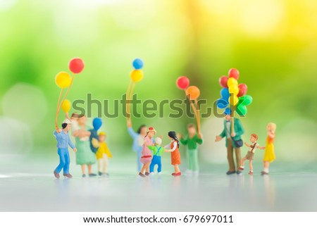 Miniature family using as background International day of families concept. #679697011