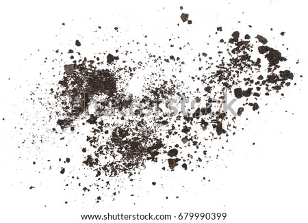 pile dirt isolated on white background, with clipping path Royalty-Free Stock Photo #679990399