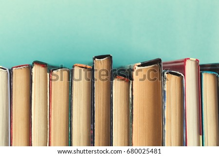 Composition with books on the table #680025481