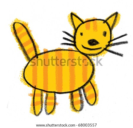 Cute Children's illustration of a Cat