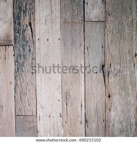 Rustic old natural wooden wall or floor close-up as empty background or pattern with space for copy #680215102