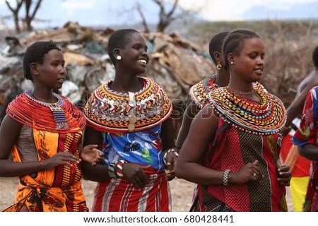 Traditional Samburu women in Kenya Royalty-Free Stock Photo #680428441