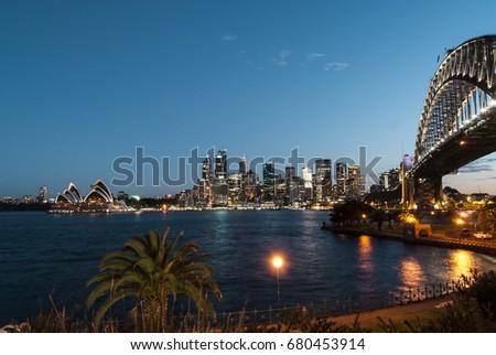 Harbour Bridge in Sydney #680453914