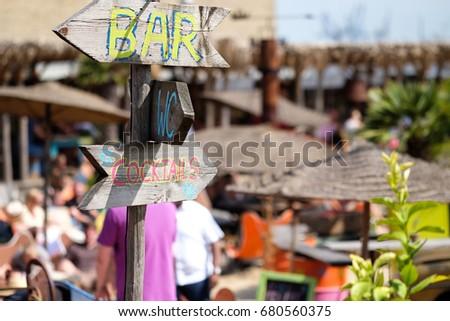 Caribbean beach bar #680560375