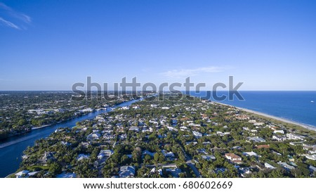 Aerial Del ray Beach, Florida #680602669