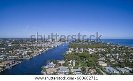 Aerial Del ray Beach, Florida #680602711