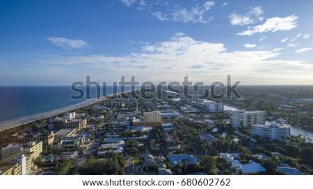 Aerial Del ray Beach, Florida #680602762