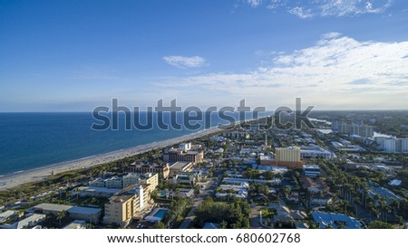 Aerial Del ray Beach, Florida #680602768