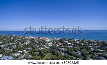 Aerial Del ray Beach, Florida #680602825