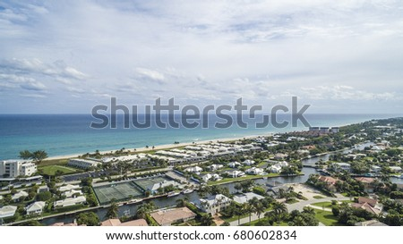 Aerial Del ray Beach, Florida #680602834