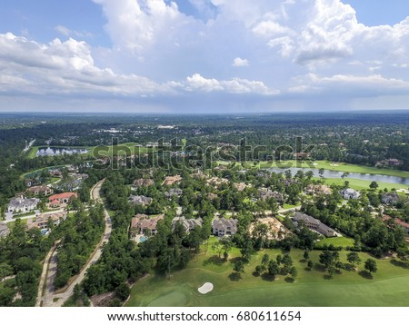 Aerial View from The Woodlands in Texas, USA #680611654