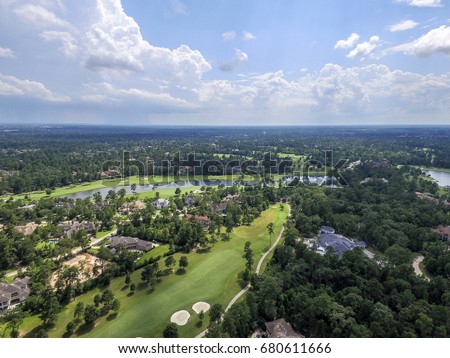 Aerial View from The Woodlands in Texas, USA #680611666