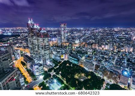 Night view of city #680642323
