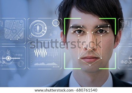 Facial Recognition System concept. #680761540