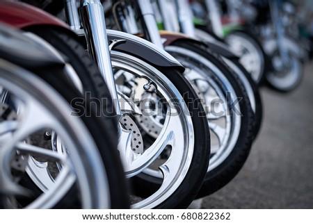 Motor bikes in a row #680822362