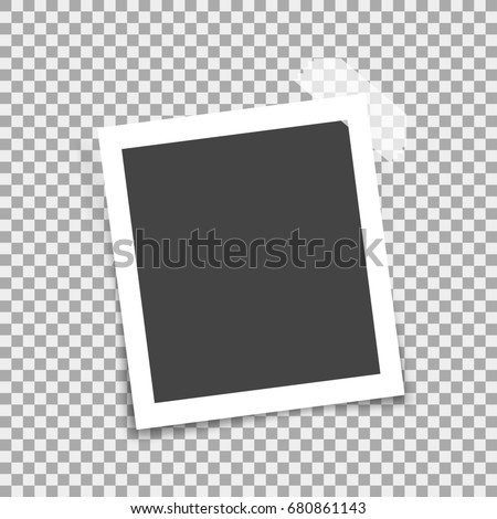 Retro photo frame. 3d Illustration isolated on transparent background. Graphic concept for your design #680861143