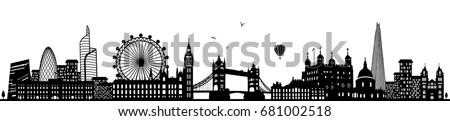 london skyline black Royalty-Free Stock Photo #681002518