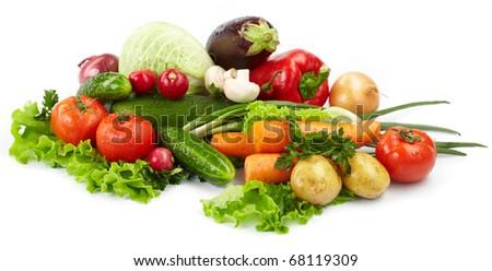 fresh vegetables on the white background #68119309