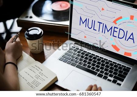 Multimedia Entertainment Communication Technology Icon #681360547