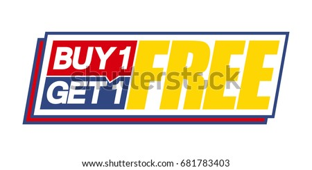buy one get one free. vector
