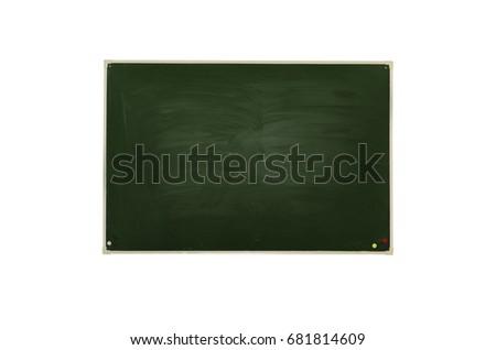 Blackboard (Chalkboard) isolated on white. Education background. #681814609