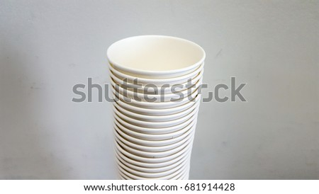 Many white paper cup #681914428