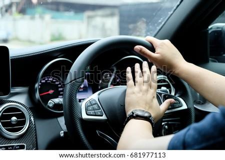 Car Driver Honking  #681977113