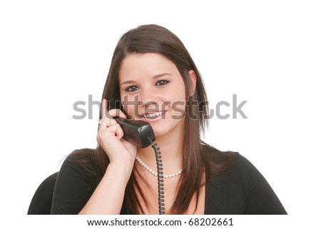 Young adult woman taking a phone call #68202661