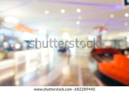 Abstract blur and defocused luxury shopping mall of department store interior for background #682289440