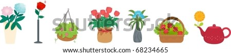 illustration of flowers on a white background #68234665