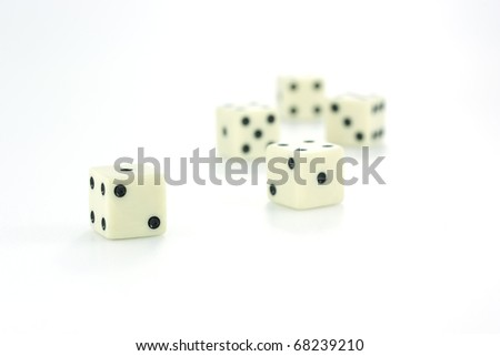 Playing dice #68239210