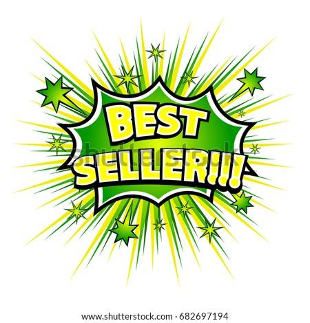 BEST SELLER! Comic book explosion. Vector illustration. #682697194