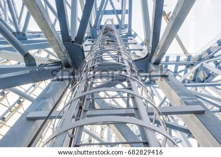 steel stairway in the tanks #682829416