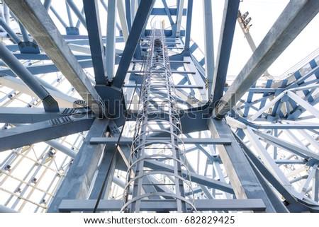steel stairway in the tanks #682829425