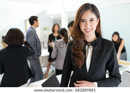 Asian young business leader in office  #682889881