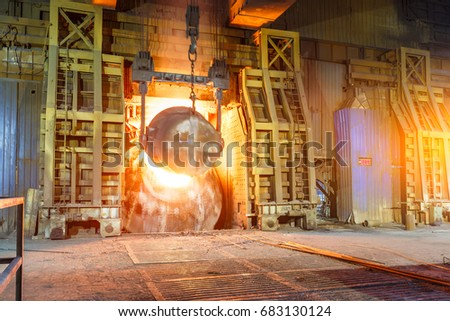 Blast furnace smelting liquid steel in steel mills #683130124