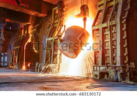 Blast furnace smelting liquid steel in steel mills #683130172